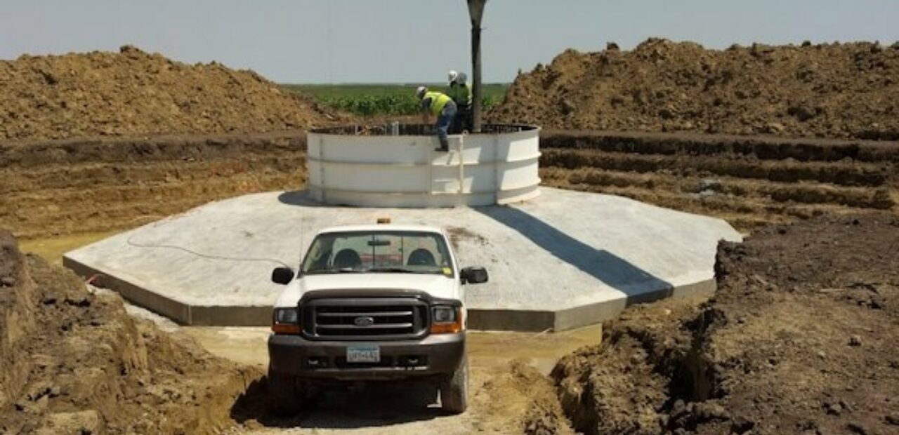 pouring windmill foundation