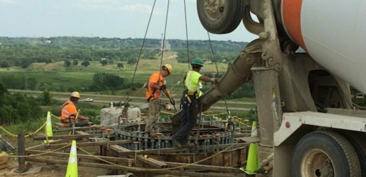 pouring concrete for CAPX 2020