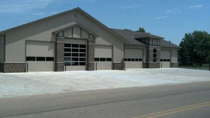 Fire Hall in Edgerton with new concrete pad