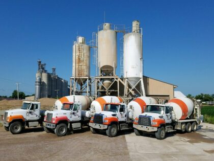 Lamberton plant with cement trucks